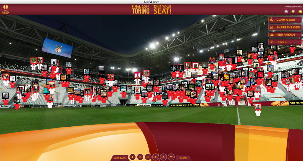 UEFA Case Study: capturing an empty stadium to boost fan engagement