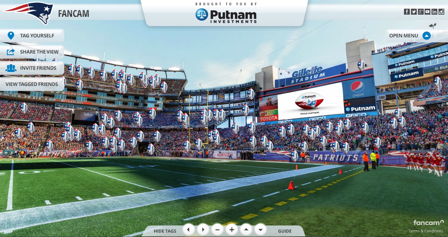 Putnam Investments goes long on the Patriots Fancam